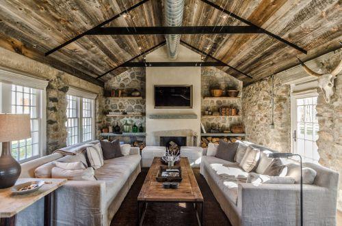 质朴休闲美式风格客厅设计欣赏