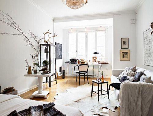 2016文艺白色美式客厅装饰案例