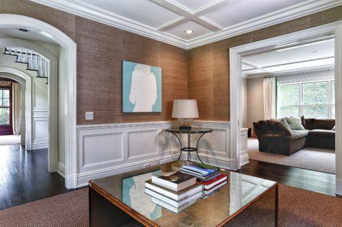 美式素雅清爽客厅装修设计
