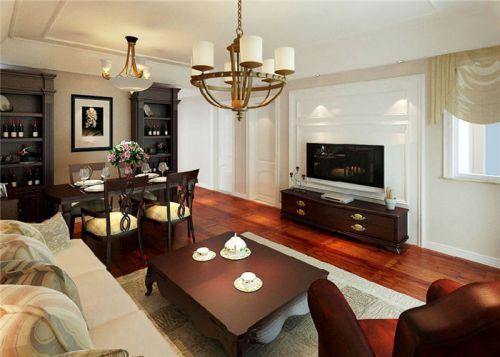 美式沉稳风格客厅装饰案例