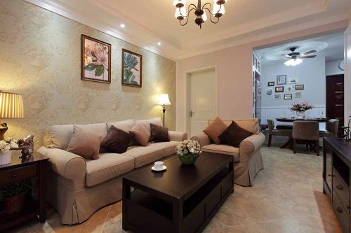 美式舒适小户型客厅装修设计