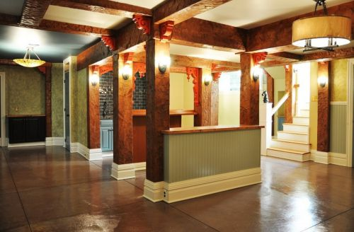 美式客厅过道设计图片