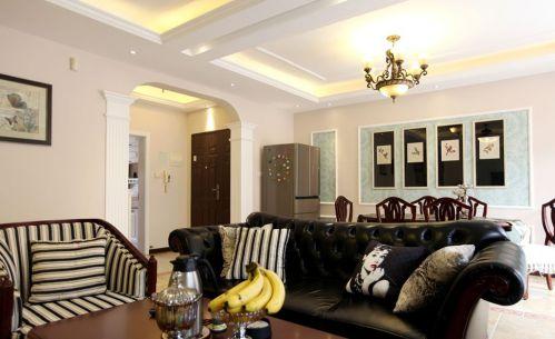 美式风格白色客厅设计图赏析