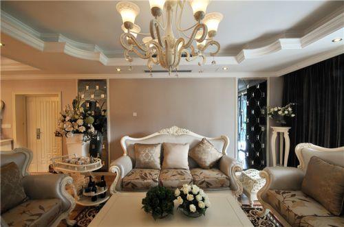 美式风格米色客厅设计效果图欣赏