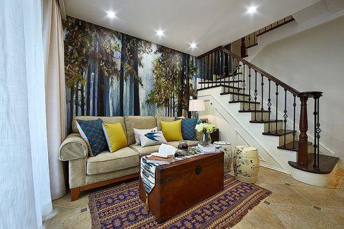 自然清新创意复古美式客厅装修
