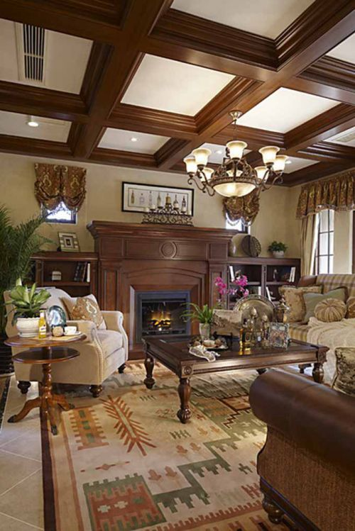 美式别墅客厅设计效果图