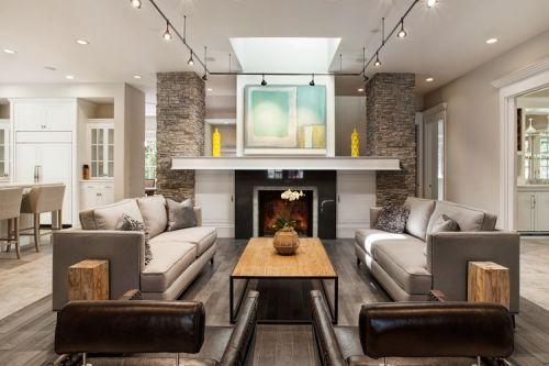 美式休闲客厅装潢案例