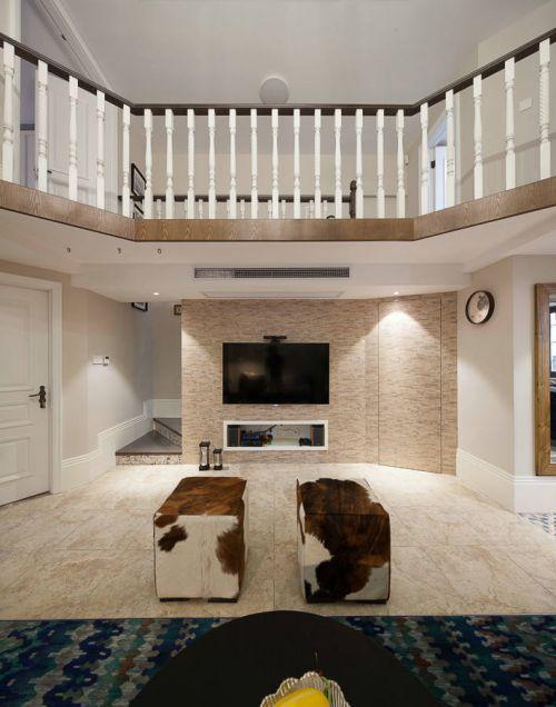 2016米色美式客厅装饰设计图片