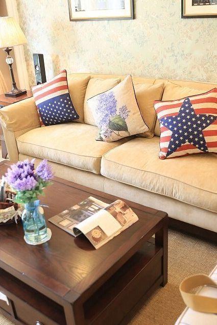 美式客厅温馨效果图片