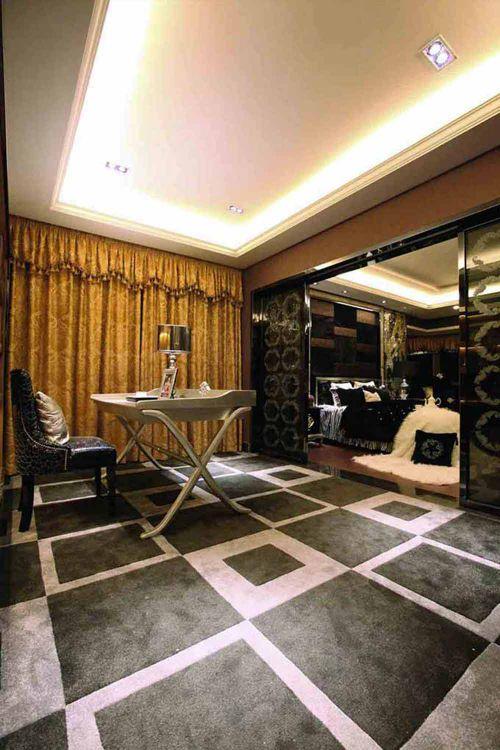 美式黑色客厅装潢设计