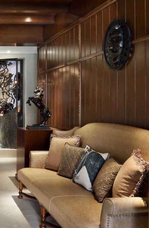 美式休闲客厅背景墙装修设计