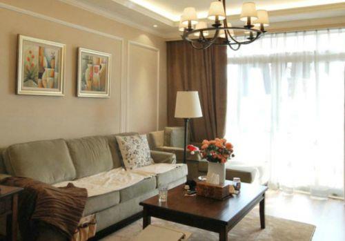 美式清新时尚浪漫照片墙客厅装潢美图赏析
