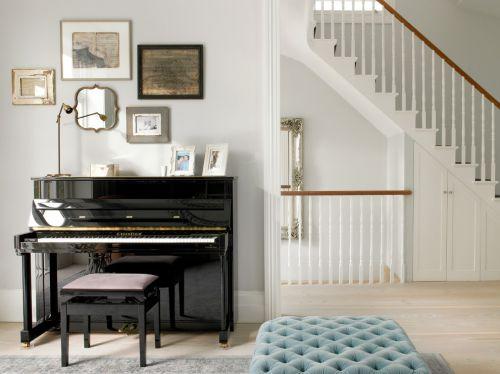 白色美式风格客厅装饰设计图片