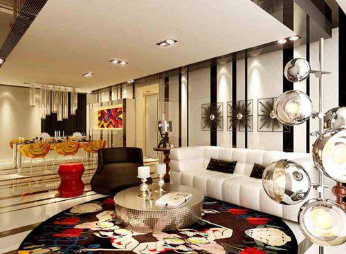 缤纷美丽美式风格客厅设计