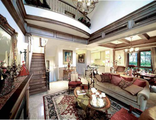 古典美式实用客厅装修设计