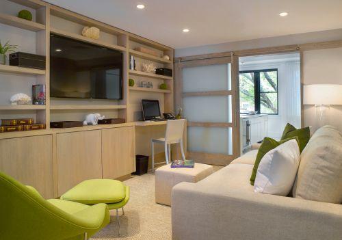 淡雅清新美式风格客厅设计欣赏