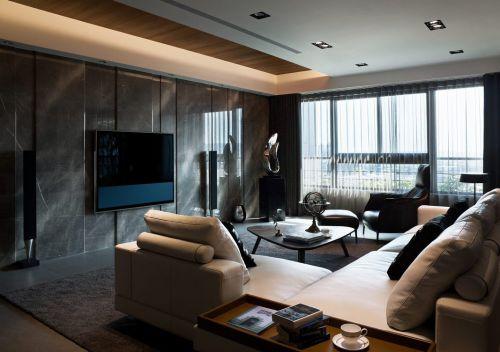 2016都市时尚黑色美式客厅装修