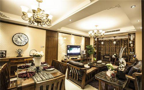 美式低奢风格客厅效果图赏析