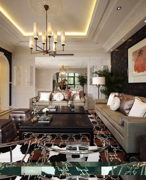 雅致精美时尚美式风格客厅装潢