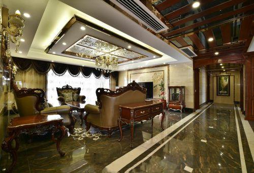 原木色轻奢美式客厅装修赏析