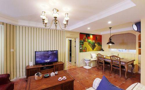 优雅美式温馨米色客厅图片赏析