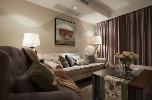 大气现代美式风格客厅装潢赏析