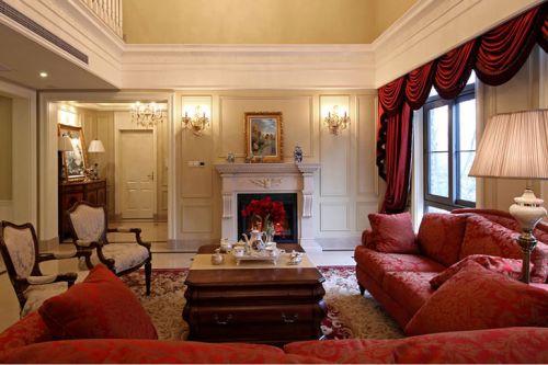 休闲美式风格客厅装修图片