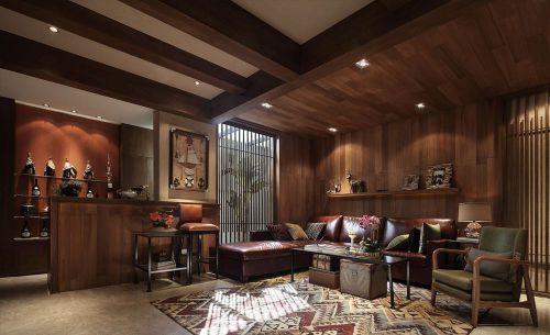 原木色个性美式风格客厅装修设计
