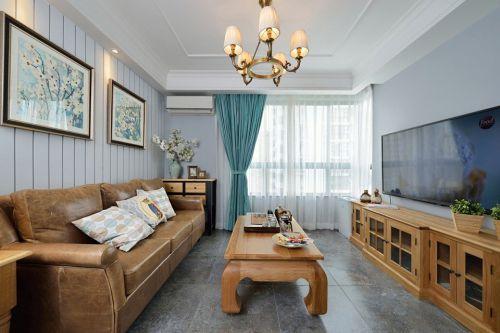 美式风格白色清新客厅设计图片