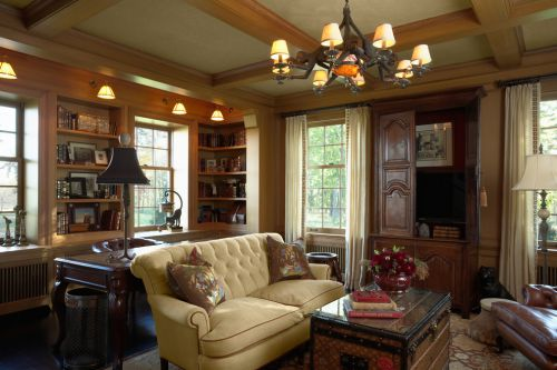 美式乡村风格沉稳自然客厅设计