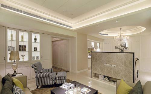 清新米色美式风格客厅设计案例