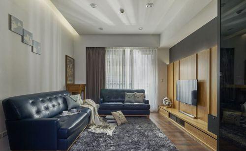 灰色创意淡雅美式风格客厅设计图