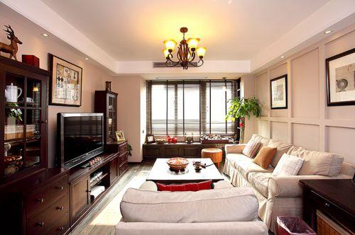 舒适休闲美式客厅设计