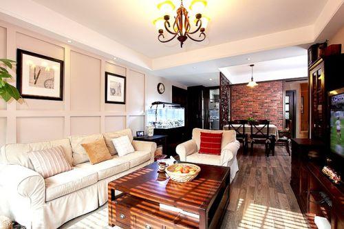 唯美浪漫美式客厅装修