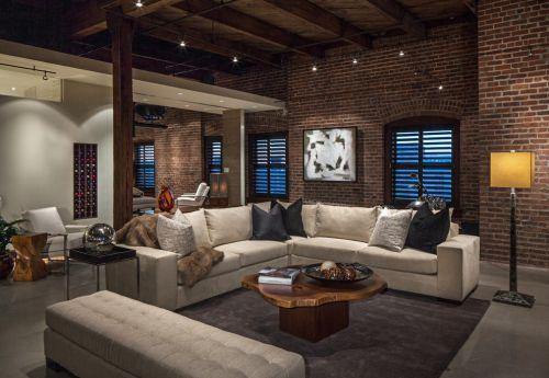 灰色质感美式风格客厅装修案例