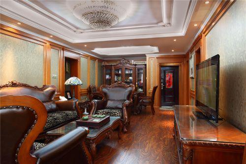 大气沉稳美式风格客厅装潢图片赏析
