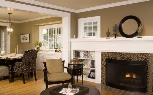 美式风格质感黄色客厅设计赏析