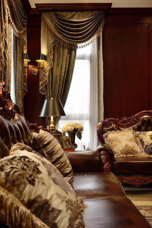 2016精美大方美式客厅装修布置图片