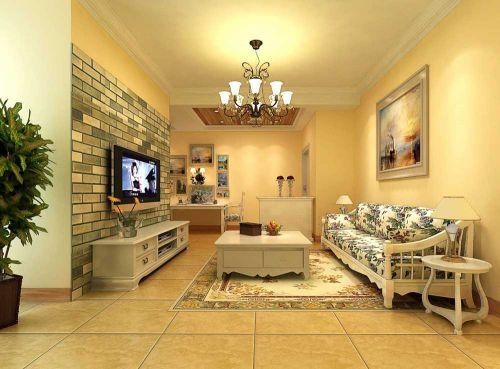 新美式温馨淡雅客厅图片欣赏