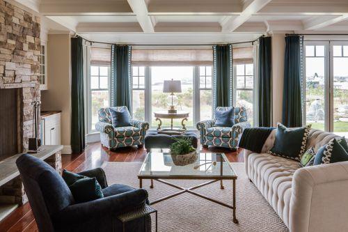 优雅简约美式风格客厅效果图设计