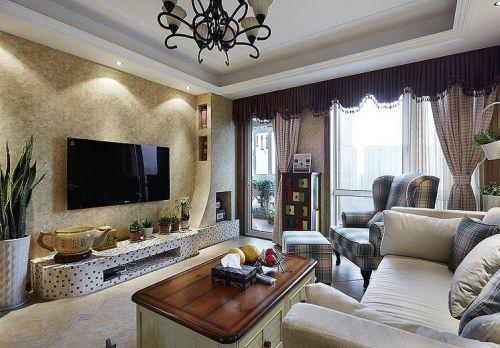 温馨美式雅致风格客厅装潢设计赏析