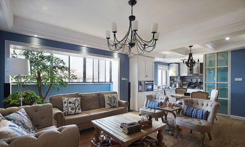 精致创意蓝色美式风格客厅欣赏