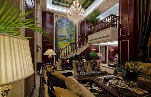 美式客厅装潢设计图片