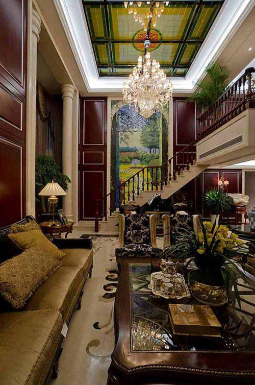 2015美式华丽客厅设计