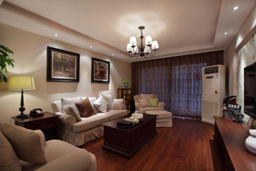 休闲美式风格客厅效果图设计