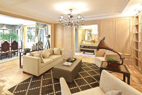 温馨现代美式风格客厅装修案例