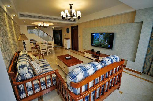 休闲美式风格客厅装修设计欣赏