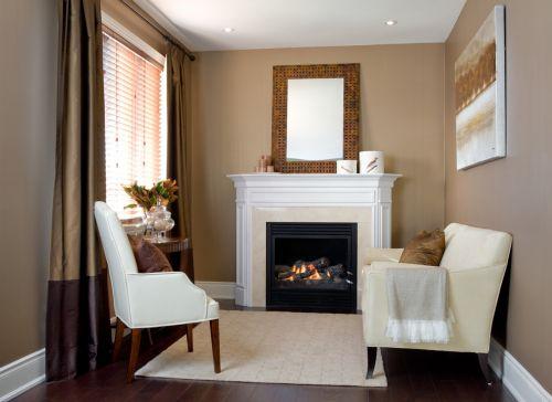 美式清爽靓丽客厅装修效果图片