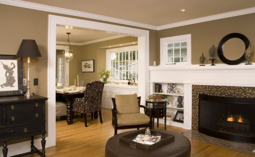 美式风格客厅局部装潢设计