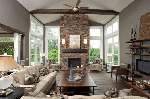 美式风格大气米色客厅设计装潢